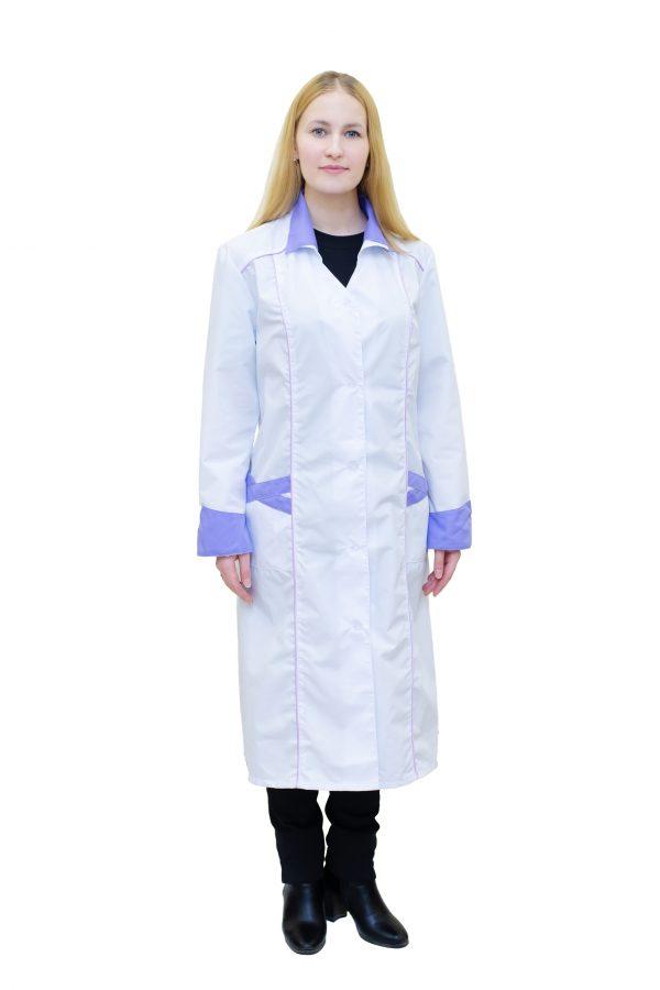 Халат медицинский женский с отделкой