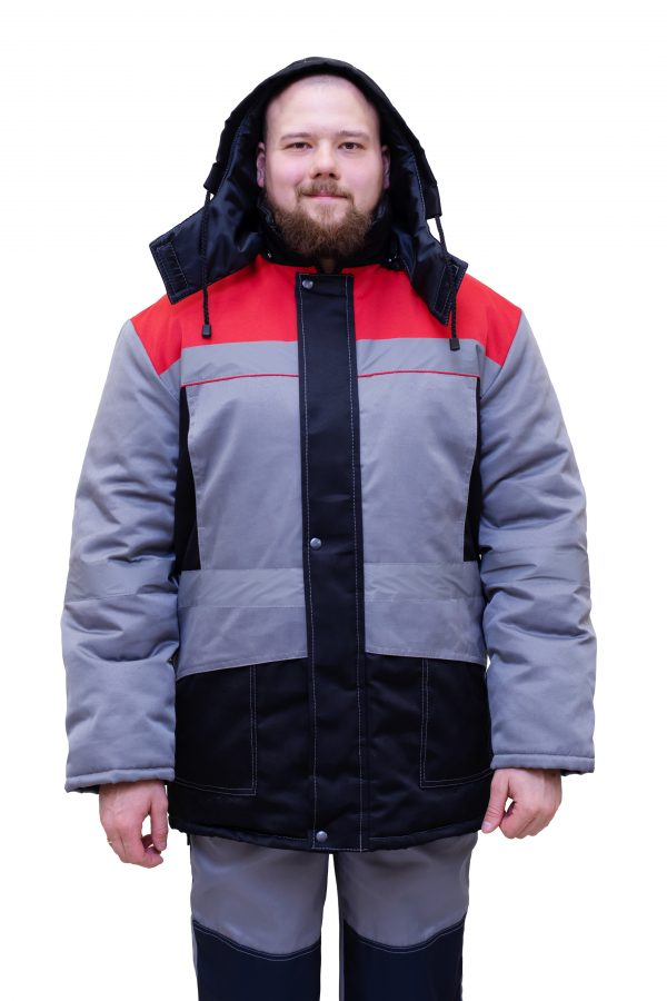 Куртка №306 мужская серый