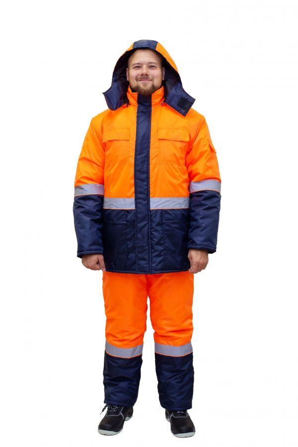 Костюм №356 оранжевый/синий