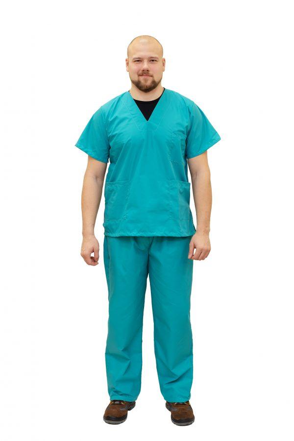 Костюм хирурга бирюзовый ТиСи